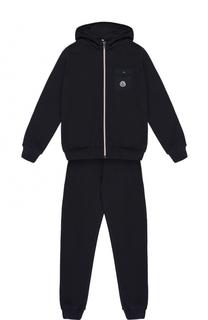 Спортивный костюм из хлопка с накладным карманом Moncler Enfant