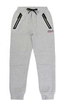 Спортивные брюки с контрастной отделкой на кулиске Polo Ralph Lauren