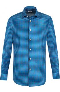 Хлопковая рубашка с принтом Kiton