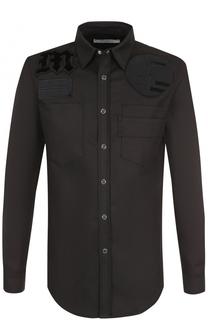Хлопковая рубашка с нашивками Givenchy