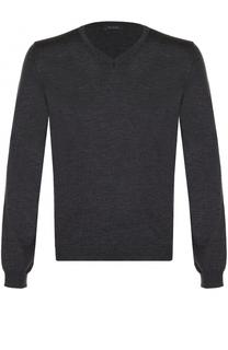 Шерстяной однотонный пуловер Pal Zileri