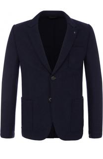 Однобортный пиджак с нашивкой HUGO