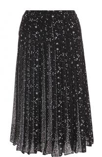 Плиссированная юбка-миди с принтом MICHAEL Michael Kors