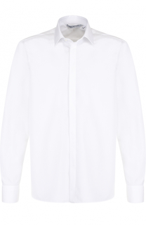 Хлопковая рубашка с принтом на спине Neil Barrett