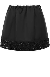 Мини-юбка с эластичным поясом и декоративной отделкой No. 21