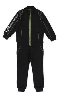 Спортивный костюм с контрастной прострочкой Ea 7