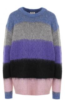 Удлиненный пуловер свободного кроя в полоску Acne Studios