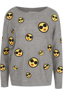 Вязаный пуловер с круглым вырезом и контрастной отделкой Alice + Olivia