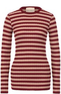 Облегающий пуловер в полоску Erika Cavallini