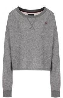 Пуловер свободного кроя с круглым вырезом Emporio Armani