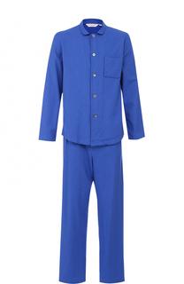 Хлопковая пижама с принтом houndstooth Derek Rose