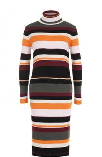Шерстяное платье-миди с высоким воротником Paul&Joe Paul&Joe