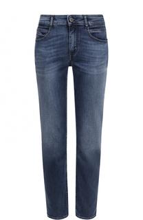 Укороченные джинсы с потертостями BOSS