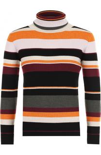 Приталенный шерстяной свитер в полоску Paul&Joe Paul&Joe