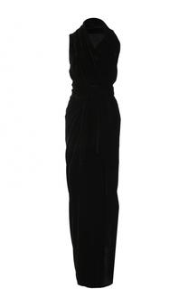 Бархатное платье-макси с высоким разрезом Rick Owens