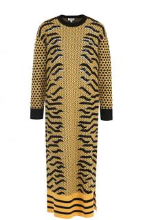 Вязаное платье-миди прямого кроя Kenzo