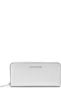 Портмоне из металлизированной кожи с логотипом бренда MICHAEL Michael Kors
