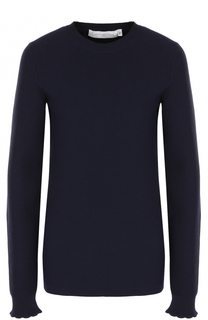 Шерстяной пуловер с круглым вырезом Victoria Beckham