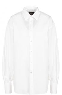 Хлопковая блуза свободного кроя Polo Ralph Lauren