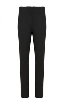 Шерстяные брюки прямого кроя с завышенной талией Saint Laurent