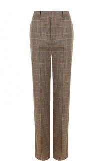 Шерстяные брюки в клетку со стрелками Ralph Lauren