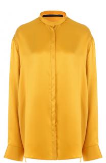 Шелковая блуза свободного кроя с воротником-стойкой Haider Ackermann