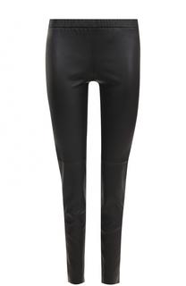 Кожаные брюки-скинни с эластичным поясом MICHAEL Michael Kors