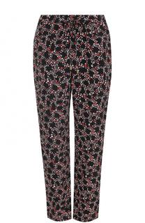 Шелковые брюки прямого кроя с принтом MICHAEL Michael Kors