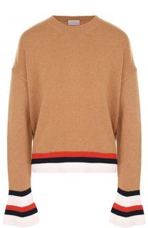 Шерстяной пуловер свободного кроя MRZ