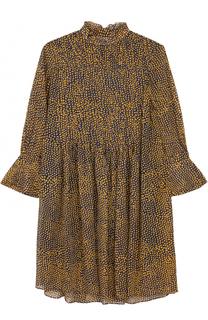 Шелковое мини-платье свободного кроя с принтом Dorothee Schumacher