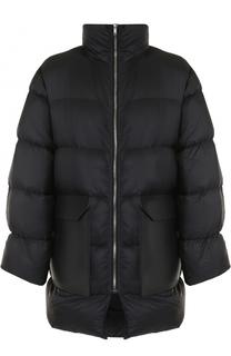 Куртка свободного кроя на молнии с кожаными накладными карманами Rick Owens
