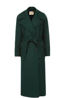 Шерстяное пальто с поясом Erika Cavallini