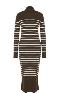 Шерстяное платье-миди в полоску MRZ