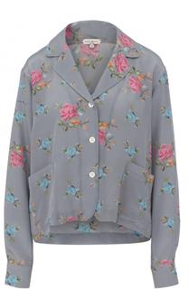 Шелковая блуза в пижамном стиле с цветочным принтом Natasha Zinko