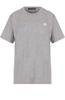Хлопковая футболка свободного кроя Acne Studios