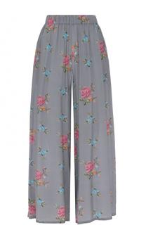 Укороченные шелковые брюки с эластичным поясом Natasha Zinko