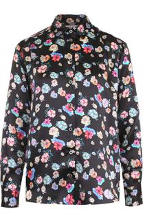 Шелковая блуза прямого кроя с цветочным принтом Paul&Joe Paul&Joe