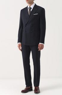 Шерстяной костюм с двубортным пиджаком Giorgio Armani