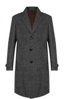 Шерстяное однобортное пальто Ermenegildo Zegna