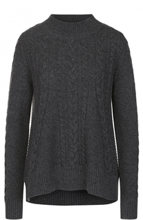 Кашемировый пуловер фактурной вязки FTC