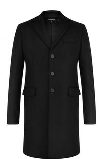 Однобортное кашемировое пальто Dsquared2