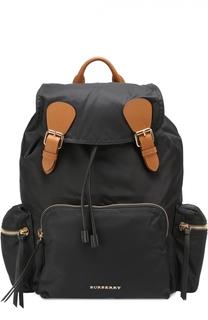 Рюкзак с отделкой из кожи Burberry