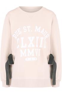 Пуловер свободного кроя с бархатными бантами Mm6
