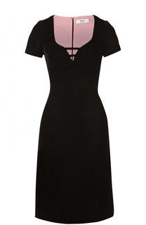Приталенное платье-миди с коротким рукавом Blugirl