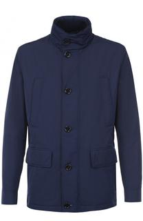 Утепленная куртка на молнии с воротником-стойкой BOSS