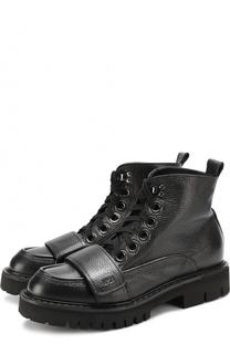 Кожаные ботинки с декоративным ремешком No. 21