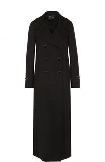 Удлиненное двубортное пальто Giorgio Armani