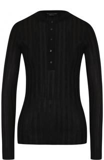 Облегающий шелковый пуловер с круглым вырезом Tom Ford