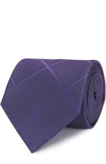 Шелковый галстук в клетку Armani Collezioni