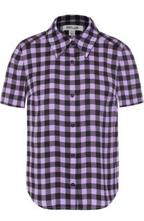 Шелковая блуза с принтом Diane Von Furstenberg